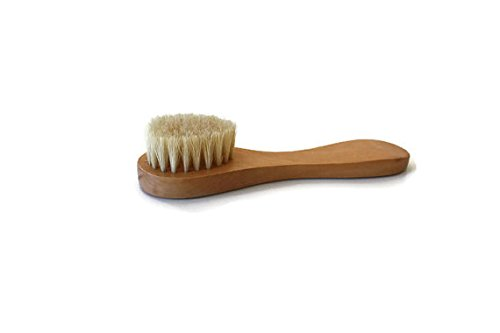 Brush Silk Glow (Facial Brush by Silk Vitality | Dry Face Brush, Natural Bristle Dry Skin Cleansing Brush For Exfoliating and Cleaning Pores)