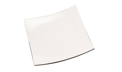 American Metalcraft MEL42 Concave Melamine Platter, Square, 12-Inch, White