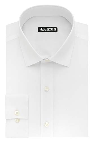 Collar Dress Suit - Unlisted by Kenneth Cole Reaction Men's Slim Fit Solid Spread Collar Dress Shirt, White, 16