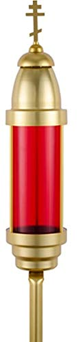 Orthodox Cross Cemetery/Vigil Memorial Light (Red) by MONTI MONUMENTS