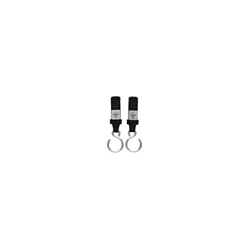 Lässig Casual Stroller Hooks Kinderwagenbefestigung/Kinderwagenhaken aus Metall mit Klettverschluss, 2er pack