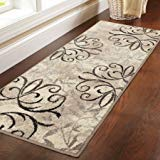 Better Homes Gardens Iron Fleur Area Rug Runner,Beige from Better Homes & Gardens