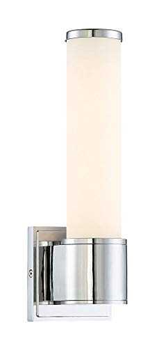 Designers Fountain LED6871-CH Linden - 13W 1 LED Wall Sconce, Chrome Finish with Opal Glass
