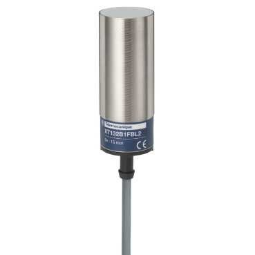zylindrisch durchmesser 32mm Schneider XT132B1FAL2 XT1-Kap Kabel 2m N/äherungsschalter Messing Sn 15mm