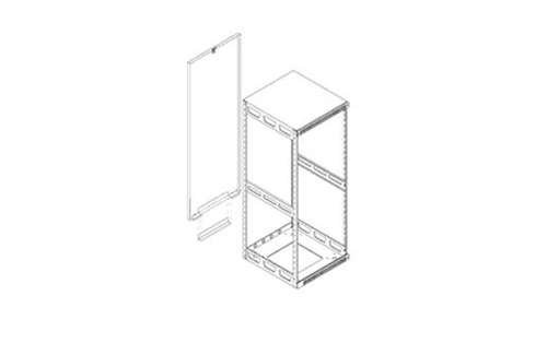 Slim 5 Rear Access Pan Rack Height: 36.75'' H (21U space)