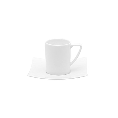 Red Vanilla Extreme Espresso Cup and Saucer Set, Set Of 6, 3 oz, White by Red Vanilla (Image #4)