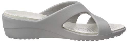 Crocs silver White Plateado Cuña pearl Para Mujer Wedge Con 0l2 Sanrah Strappy Sandalias 4waq4BT