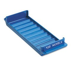 (MMF Industries Porta-Count System Rolled Coin Plastic Storage Tray, Blue)