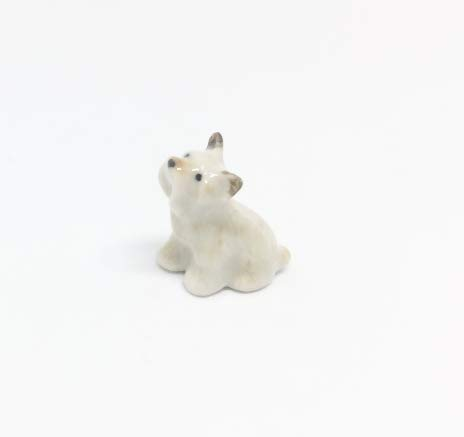 Studio one Handmade Animal Figurine Terrier Puppy Dog Porcelain Ceramic Pet Animal Figurine ()