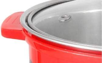 WZG Ménage acier inoxydable hot pot rotatif, une seule personne pot pot anti-brûlure, four électromagnétique pot chaud