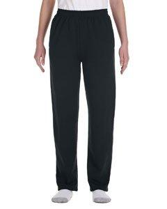 (Jerzees Girls 8 oz 50/50 NuBlend Open-Bottom Sweatpants (974Y) -Black -M)