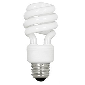 utilitech 13 watt cfl spiral fluorescent light bulb 60. Black Bedroom Furniture Sets. Home Design Ideas