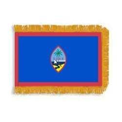 3ft. x 5ft. Guam Flag Fringed for Indoor ()