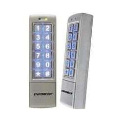 SECO-LARM SK-2323-SDQ Mullion-Style Weatherproof Digital Access Keypad; 12~24 VAC/VDC operation; 1,010 Users (Output #1: 1,000 users/Output #2:10 users); 2 Form C relays, each rated1 Amp @ 30VDC; Each relay has programmable output time from 1~99 secon by SECO-LARM