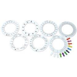 Nasco Magnetic Demonstration Fraction Ring Set - Set of 7 - TB26965 - Foam Magnetic Fraction Circles