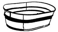 Dover Parkersburg 3-OV Heavy-duty Oval Hotdip Washtub 16.25 Gal.