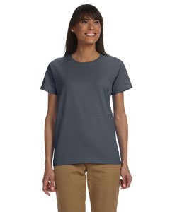 Dark Heather Ultra Cotton - Gildan Womens 6.1 oz. Ultra Cotton T-Shirt G200L -DARK HEATHER XS