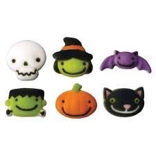 Halloween Frightful Friends Sugar Decorations Cookie Cupcake Cake 12 Count]()