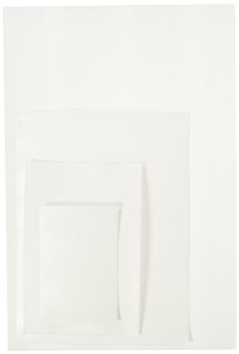 Sax Foam Printing Plates Classroom Pack - Assorted Sizes - Set of 304 - White ()