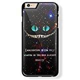 Alice in Wonderland Cheshire Cat Quote for iPhone 6 Plus Black case