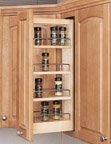 Wall Cabinet Organizers with Standard Close, 5''W x 10-3/4''D x 23''H, Zinc/100 lb, Wood, Range Hood, Framed 9''