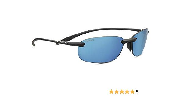 SHINY BLACK Serengeti Sunglasses NUVINO PHD 2.0 POLARIZED 555NM BLUE