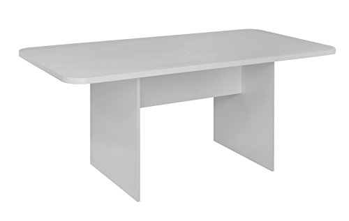 (Niche NCT6834WH Mod Conference Table with No- with No-Tools Assembly, 6', White Wood Grain)