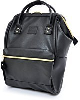 Anello Synthetic Leather Backpack Large AT-B1211 (Black)