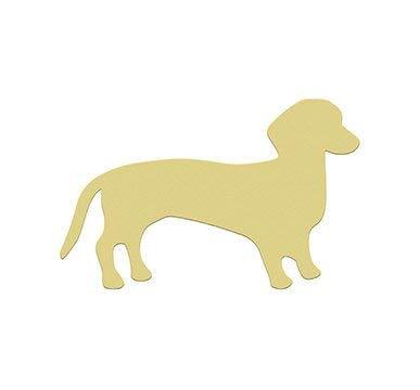 MarthaFox Weenie Dog Dachshund Unfinished Wooden Craft Shape DoItYourself -