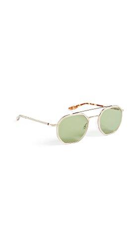 Barton Perreira Women's Themis Sunglasses, Champagne/Aegean, One - Perreira Sunglasses Barton