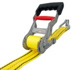 USA Products 27 ft. Step Release Ratchet Tie Down with J-Hook