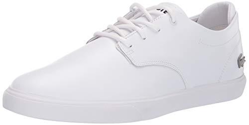 Lacoste Mens Esparre Sneaker, White/White, 10.5 Medium US