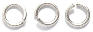 Shipwreck Electroplated Brass 18-Gauge Jump Rings, 6mm, M...