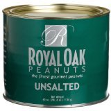 Royal Oak Gourmet Jumbo Unsalted Virginia Peanuts, 40-Ounce Tin