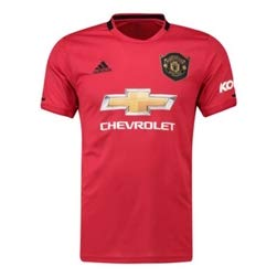 adidas Manchester United Home Shirt 2019-20 (M) Red