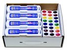 Prang Non-Toxic Washable Semi-Moist Wax-Free Watercolor Masterpack with Refill Trays44; Plastic Oval Pan44; Pack - 36