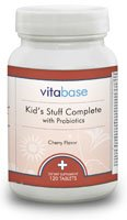 Kid's Stuff Complete with Probiotics - 120 Chewable Tablets per Bottle (3 Pack) by Vitabase (Image #2)