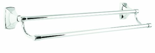 Amerock BH2650526 Clarendon 24in(610mm) Double Towel Bar - Polished - Towel Bar Hinge Double