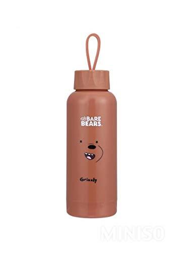4847553a98 Miniso Plastic & Glass White We Bare Bears Glass Water Bottle 10 oz. 300ml (