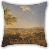 Artistdecor Oil Painting Thomas Patch - A Panoramic View Of Florence From Bellosguardo Pillowcase ,best For Home Theater,home Office,teens Boys,car,family 20 X 20 Inches / 50 By 50 Cm(double Sides)