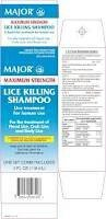 [2 PACK] MAJOR MAXIMUM STRENGTH LICE KILLING SHAMPOO LICE TREATMENT 4 FL OZ X 2 BOXES, NIT COMBS INCLUDED *COMPARE TO THE EXACT SAME INGREDIENTS FOUND IN RID® LICE KILLING SHAMPOO (Lice Pubic)