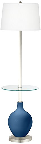 Regatta Blue Ovo Tray Table Floor Lamp (Blue Ovo Table Lamp)