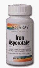 Solaray - Iron Asporotate, 18 mg, 100 capsules by Solaray