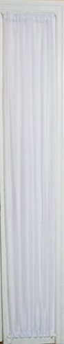 WHITE SHEER SIDELIGHT CURTAIN 36′ WIDE 79″ LENGTH ROD POCKET TOP AND BOTTOM