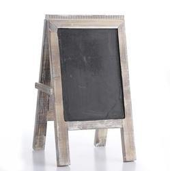 Cartel de caballete de pizarra con marco de madera. Para ...