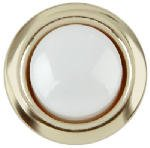 Carlon Lamson & Sessons DH1202 8-24V Gold Rim Wired Round Push Doorbell Button
