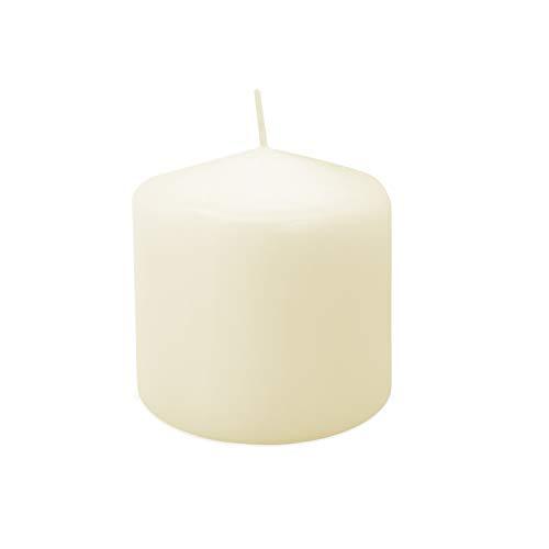 Royal Imports Pillar Candle Wedding, Birthday, Holiday & Home Decoration, 3x3, Ivory Wax, Set of 12