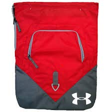 (Under Armour UA Drawstring Gymsack Undeniable Backpack 600 Denier Sport Bookbag Gear Tote (Team Red/Graphite Gray))