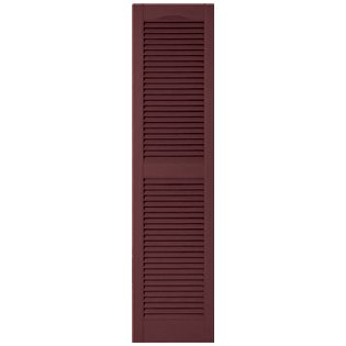Mid America Bordeaux Louvered Exterior Exterior Shutters Us784