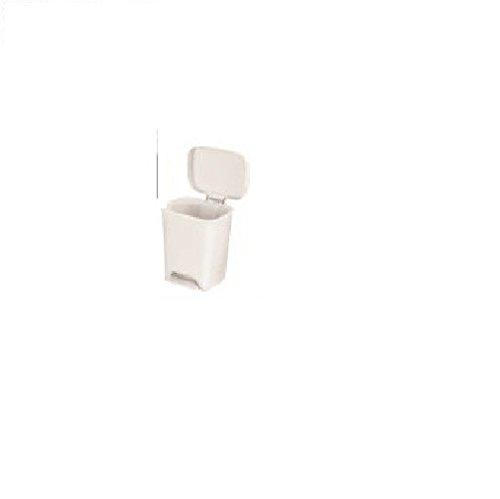 McKesson 81-25269 Entrust Waste Can, Plastic, Rectangular, 19'' Height, 15'' Width, 12'' Length, 8 gal, White, Rectangular